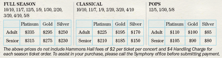 SSO 20/21 Season Ticket Pricing