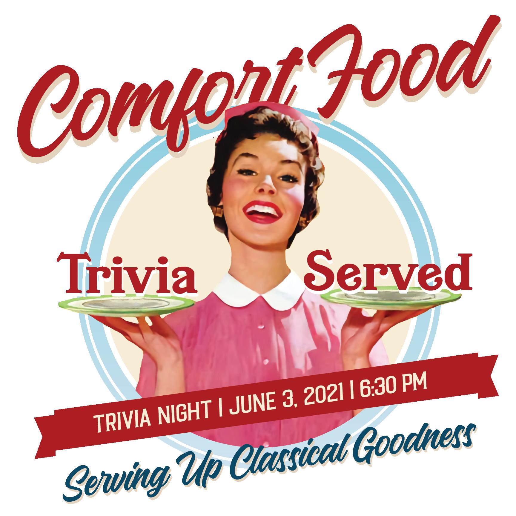 Comfort Food: Trivia Served Logo