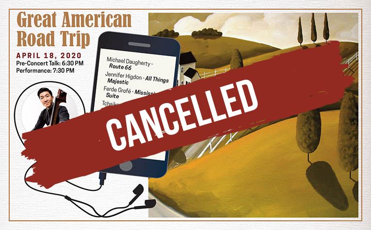 Cancelled April 18th - Great American Road Trip