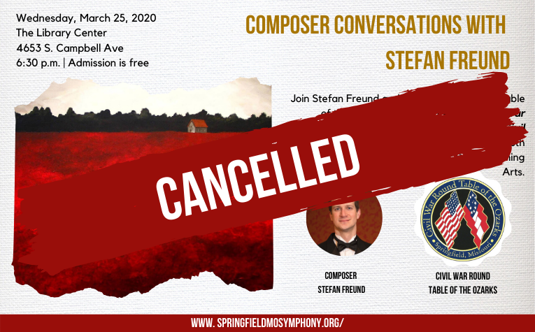 Cancelled March 25th - Composer Conversations with Stefan Freund Webslider